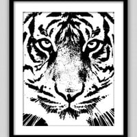 Wall Decor Print - Modern Prints - Bedroom Decor - Home Decor - Wall Art - Tiger Art - Animal Art - Tiger Print - Tiger Eye -