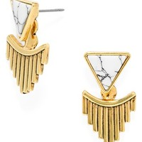 Women's BaubleBar 'Organic Fringe' Drop Earrings - Antique Gold