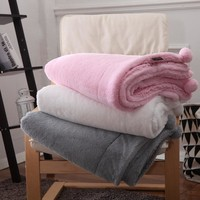 Hot Europe Style Faux rabbit fur Blanket Super Warm Sherpa Plush Double Sided Blanket For Sofa/Bed/Travel Soft Throw Blanket