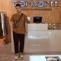 Hcxx 19June 201 CARHARTT 19ss Short sleeve chest embroidery tooling Loose T-Shirts