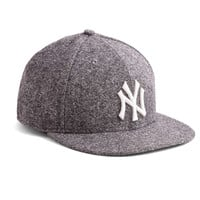 New Era Yankees Fitted Hat in Abraham Moon Charcoal Tweed