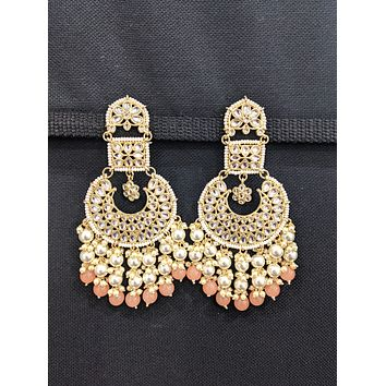 XXL size Chandbali Kundan Statement Earrings