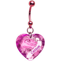 Custom Handcrafted Heart Cheerleader Belly Ring | Body Candy Body Jewelry