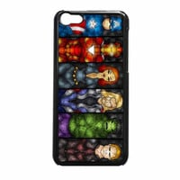 Marvel Comic Characters Stained Glass iPhone 5c Case