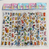 Stickers 12 Sheets/L  Go Pikachu Stickers Children Classic Toys 3D Cartoon Kids Stickers Christmas Gift for Children ToyKawaii Pokemon go  AT_89_9