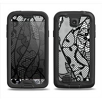 The Black and White Lace Design Samsung Galaxy S4 LifeProof Fre Case Skin Set