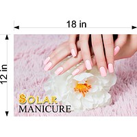 Solar 09 Wallpaper Fabric Poster Decal with Adhesive Backing Wall Sticker Decor Nail Salon Sign Horizontal