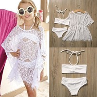 Girl's Sassy Swimsuit Bikini & Cover Up