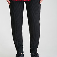 Quilted Chevron Sweatpants