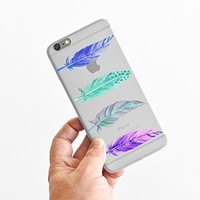 for iPhone 6 Plus - Super Slim Case - Watercolor Feathers - Tribe - Freedom - Wanderlust - Wander - Travel