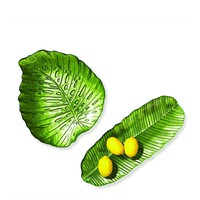 Tropical Leaf Serving Plates (Set of 2)