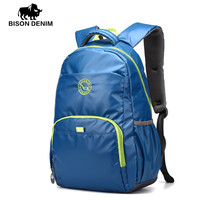 BISON DENIM Casual Sports Backpack  school bags for red sky blue black Student Backpack for Teenager Girls Boys