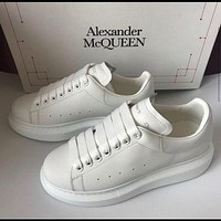 Onewel Alexander McQueen original leather Sneaker Shoes White Tail