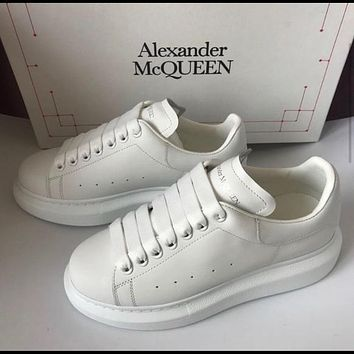 Alexander McQueen original leather Sneaker Shoes White Tail