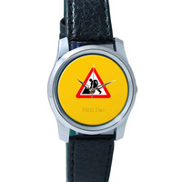Mitti pao | Road Signs For Punjabis Wrist Watch