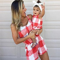 Mother Daughter Plaid Outfits