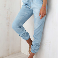 Celestial Pants | SABO SKIRT - slouchy fit faded blue, denim style pants