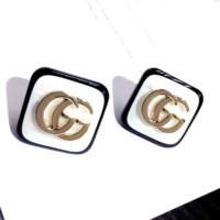 GUCCI Fashion New Letter Uadrilateral Earring Women Jewelry
