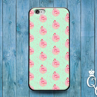 iPhone 4 4s 5 5s 5c 6 6s plus iPod Touch 4th 5th 6th Generation Cute Pink Flamingo Green Design Pattern Adorable Bird Phone Cover Cool Case