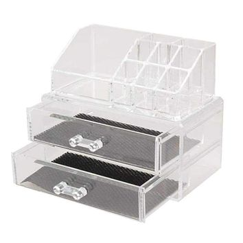 Portable Transparent Makeup Organizer Storage Box Acrylic Make Up Organizer Cosmetic Organizer Makeup Storage Drawers Christmas Macchar Cosplay Catalogue