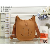 Hermes Women's Fashion Leather Tote Shoulder Crossbody Bag size:20*7*23