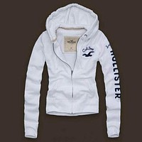 Hollister A&F Women Fashion Casual Cardigan Jacket Coat Hoodie