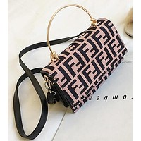 FENDI Fashion Women Shopping Handbag Crossbody Satchel Shoulder Bag Pink
