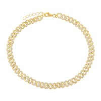 XS Pavé Chain Link Anklet