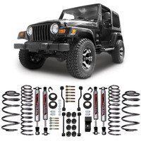 """Jeep® Lift Kits - Rough Country Suspension Systems® - RC PERF641 - Rough Country® 3.25"""" Suspension Kit for 97-06 Jeep® Wrangler and other Jeep Wrangler Parts, Jeep Accessories and Soft Tops by FORTEC"""