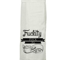 Fu@kity Fu@K Fu@k Fu@k Hang Tight Towel by Twisted Wares