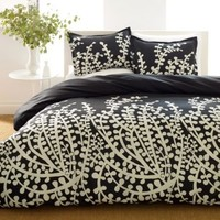 Space Living Branches Black Bed in a Bag Sets