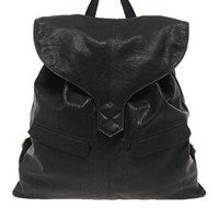 ASOS Leather Backpack With Tab Detail at asos.com