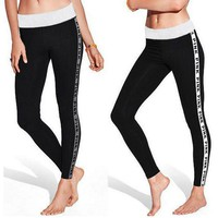 Pink Victoria's Secret Fashion letters Sport Pants Trousers Sweatpants