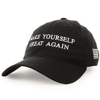Make yourself great again (black dad hat)