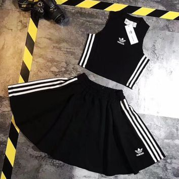 Adidas Fashion Vest Skirt Two-Piece