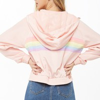 Rainbow Striped Windbreaker