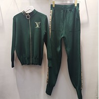 LV Louis Vuitton Women Casual Stylish Long Sleeve Top Pants Set Two-Piece