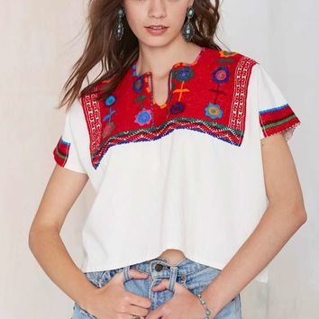 Vintage Angelica Embroidered Top
