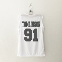 1D Louis Tomlinson one direction T-Shirt womens girls teens unisex grunge tumblr instagram blogger punk dope swag hype hipster gifts merch