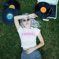 Funday Crop Tee