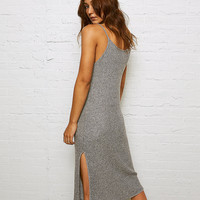 Don't Ask Why Midi Dress, Heather Gray