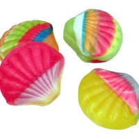 Fruit Filled Hard Candy Sea Shells: 10LB Case