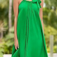 Green Halter Neck Prom Dress