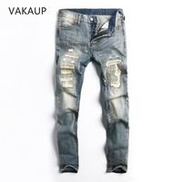 Men clothes 2018 New Mens Jeans Design Casual Jeans Slim Stretch Straight Denim Pants Jeans Ripped Skinny Mens Men Jeans Man