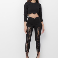 GARCELLE LACE UP PANT