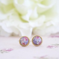 Vintage Buttons Earrings Studs Or Clip On