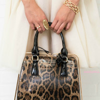 Forever & Always Leopard Satchel With Strap