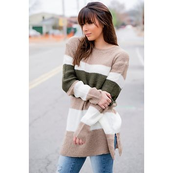 This is Everything Sweater- Taupe