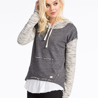 Billabong How Lovely Womens Hoodie Grey  In Sizes