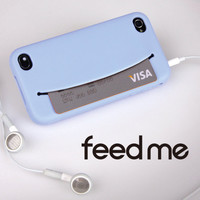 welcome connect design - ! iphone i phone case store money cards pocket smiley face